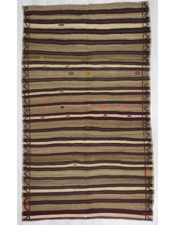 Striped One of a Kind Turkish Kilim Rug