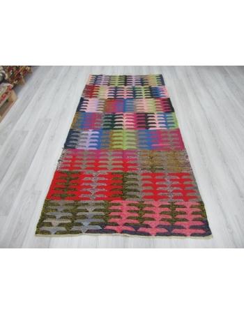 Colorful Vintage Decorative Turkish Kilim Rug
