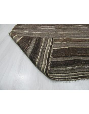 Natural Brown / Gray Vintage Kilim Rug