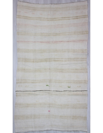 Striped Vintage Turkish Hemp Kilim Rug