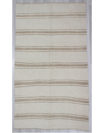 Vintage Striped Modern Hemp Kilim Rug