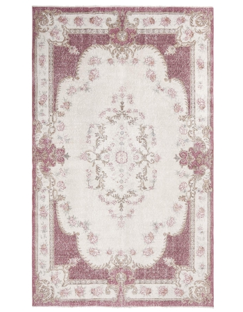 Distressed Vintage Oushak Rug