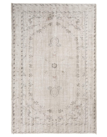 Distressed Washed Out Oushak Rug