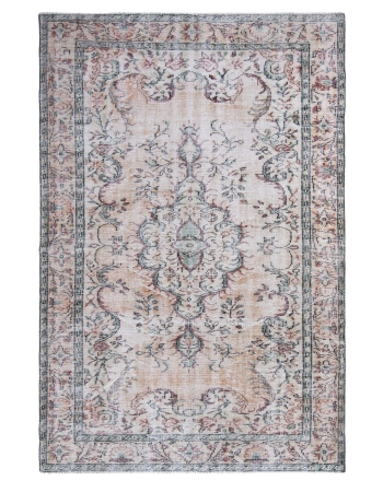 Handknotted Vintage Turkish Oushak Rug