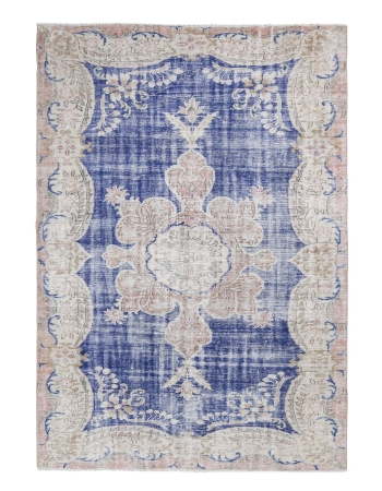 Unique Vintage Decorative Oushak Rug