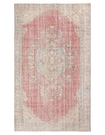 Washed Out Distressed Oushak Rug