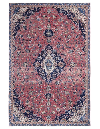 Vintage Washed Out Tabriz Rug
