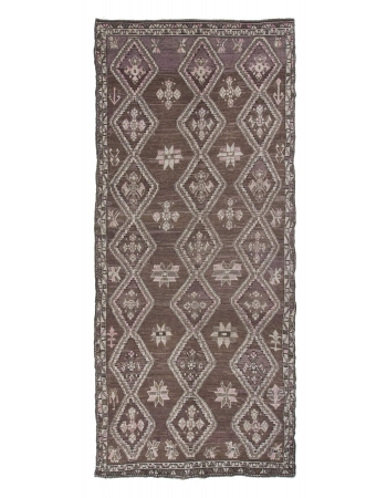 Vintage Geometric Turkish Kars Wool Rug