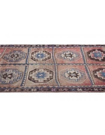 Vintage Geometric Turkish Kars Wool Rug