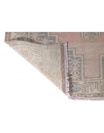 Vintage Faded Turkish Wool Rug