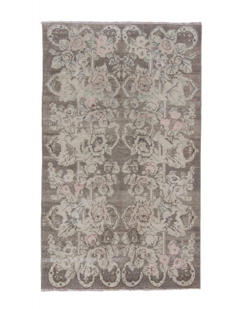 Vintage Floral Turkish Wool Rug