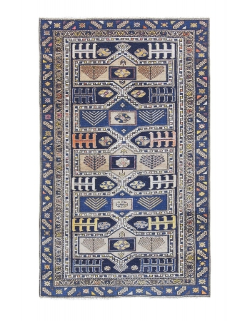 Antique Caucasian Decorative Wool Rug