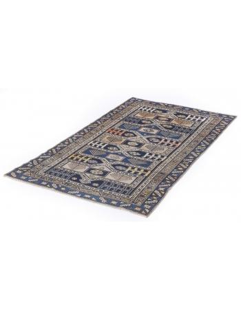 Antique Caucasian Decorative Wool Rug