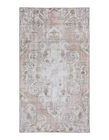 Distressed Vintage Turkish Rug