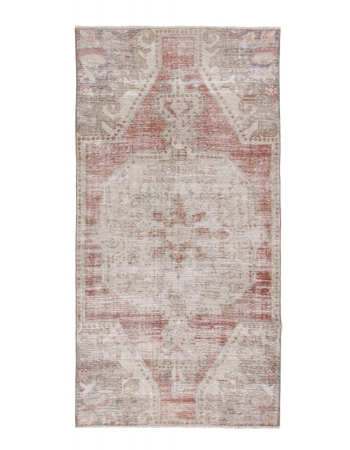 Vintage Worn Turkish Area Rug