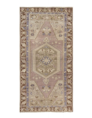Washed Out Vintage Turkish Konya Rug
