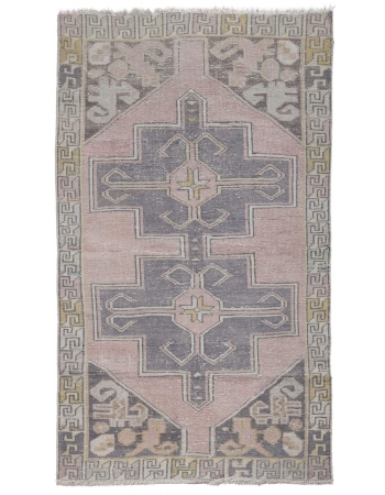 Vintage Washed Out Turkish Rug