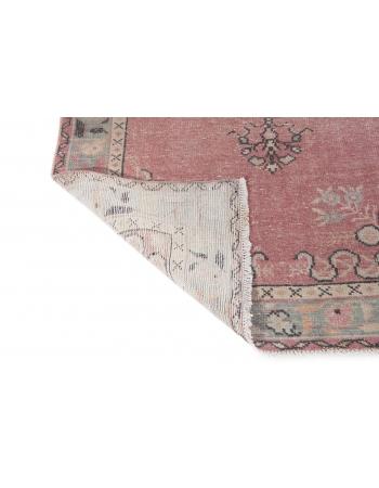 Vintage Washed Out Turkish Oushak Rug