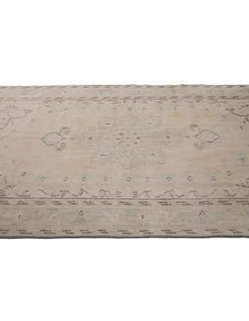 Washed Out Vintage Turkish Area Rug