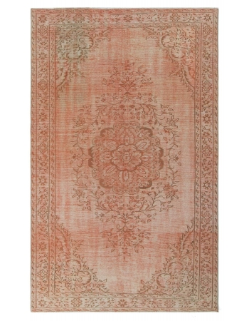 Vintage Orange Turkish Area Rug