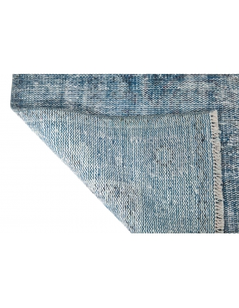 Turquoise Overdyed Vintage Rug