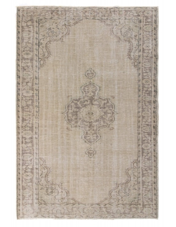 Vintage Washed Out Oushak Rug