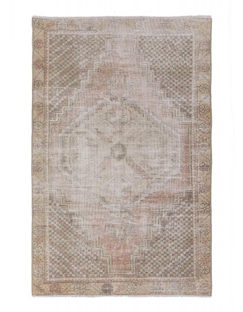 Distressed Vintage Small Area Rug