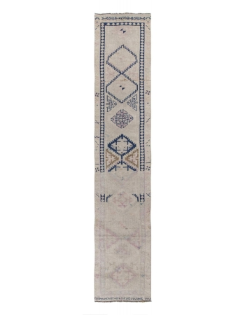 Abstract Vintage Herki Runner Rug