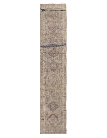 Distressed Vintage Turkish Runner Rug