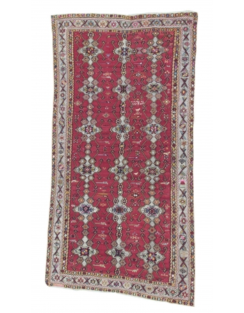 Oversized Vintage Turkish Wool Kilim Rug