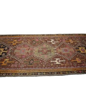 Vintage Unique Turkish Wool Kilim Rug