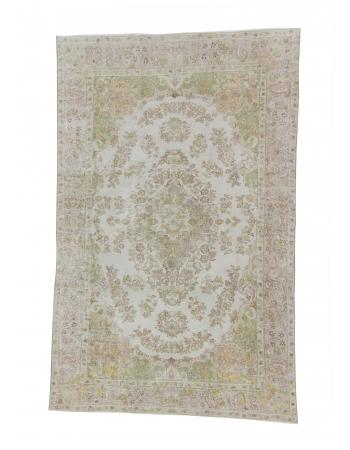 Vintage Floral Turkish Area Carpet