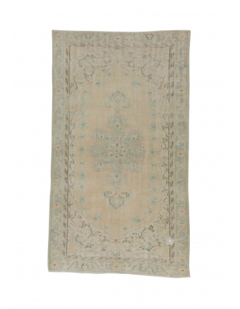 Vintage Faded Washed Out Turkish Area Rug