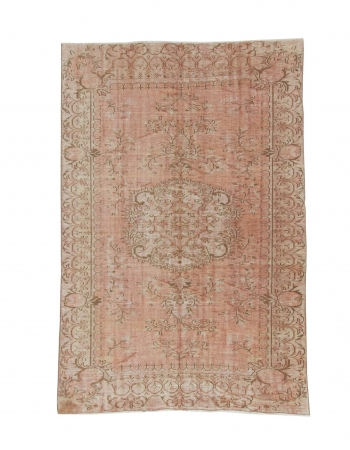 Distressed Vintage Turkish Area Rug