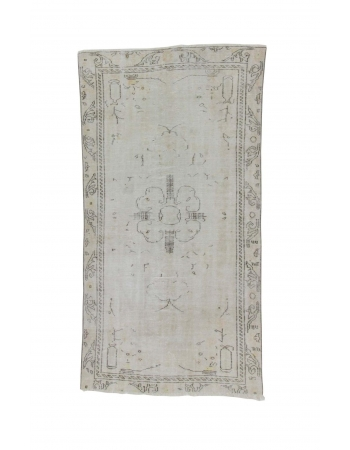 Washed Out Faded Vintage Oushak Rug