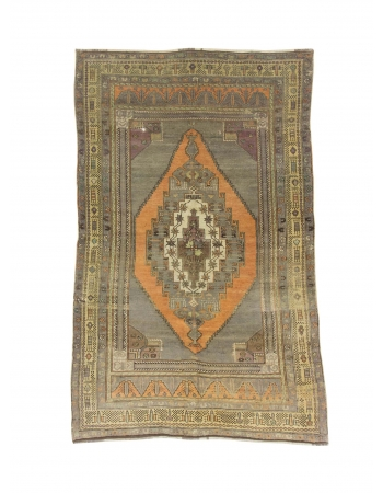 Vintage Decorative Turkish Anatolian Rug
