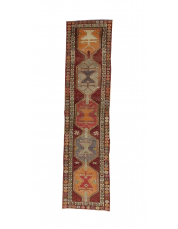 Vintage Decorative Herki Runner Rug