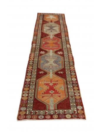Vintage Decorative Herki Runner Rug