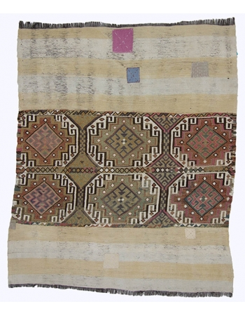 Unique Vintage Decorative Kilim Rug