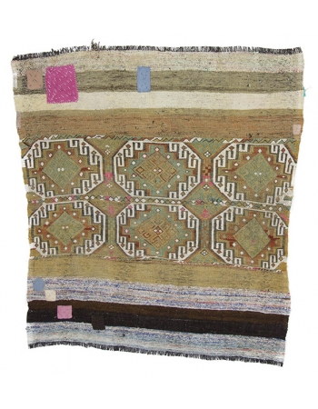 Decorative Vintage Turkish Kilim Rug