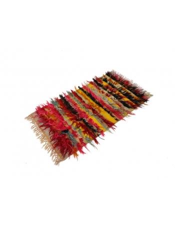 Vintage Colorful Turkish Tulu Rug