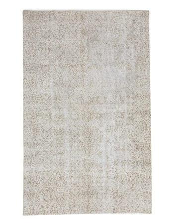 Distressed Washed Out Vintage Cream Rug