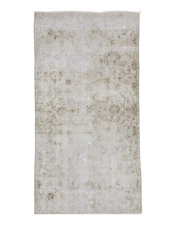 Distressed Vintage Turkish Floral Rug