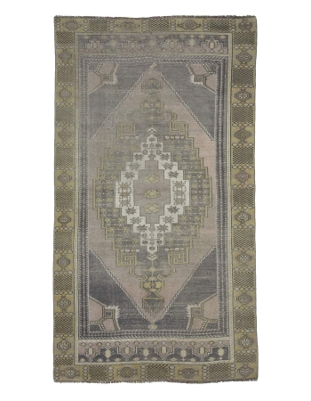 Worn Vintage Decorative Turkish Area Rug
