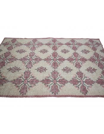 Vintage Worn Turkish Floral Rug