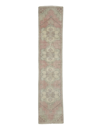 Vintage Worn Narrow Turkish Runner Rug