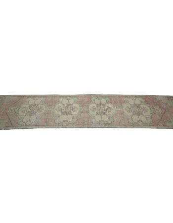 Vintage Worn Narrow Turkish Runner Rug