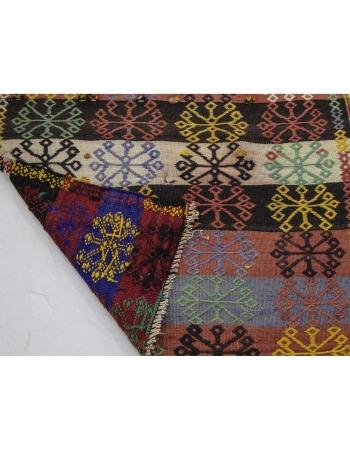 Embroidered Vintage Long Turkish Kilim Runner