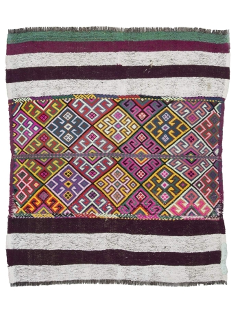 Colorful Vintage Decorative Kilim Rug