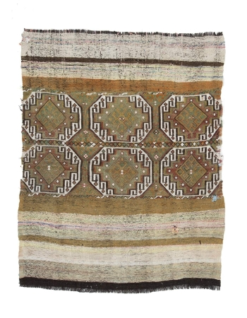 One of A Kind Vintage Small Kilim Rug